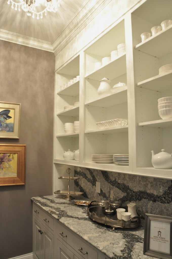 White kitchen with butler's pantry