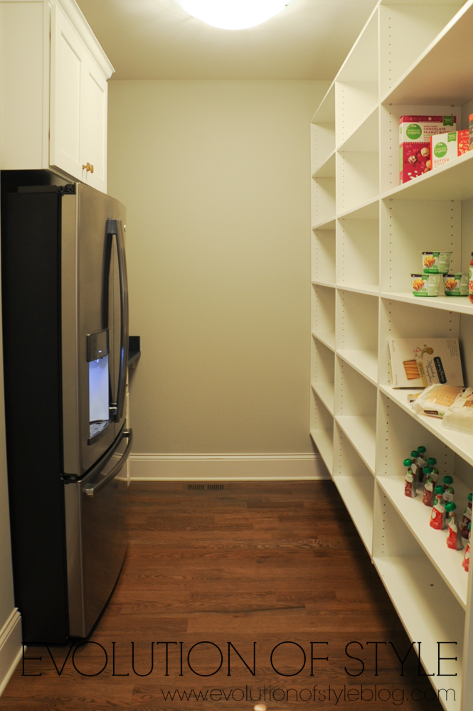 Large pantry with refrigerator