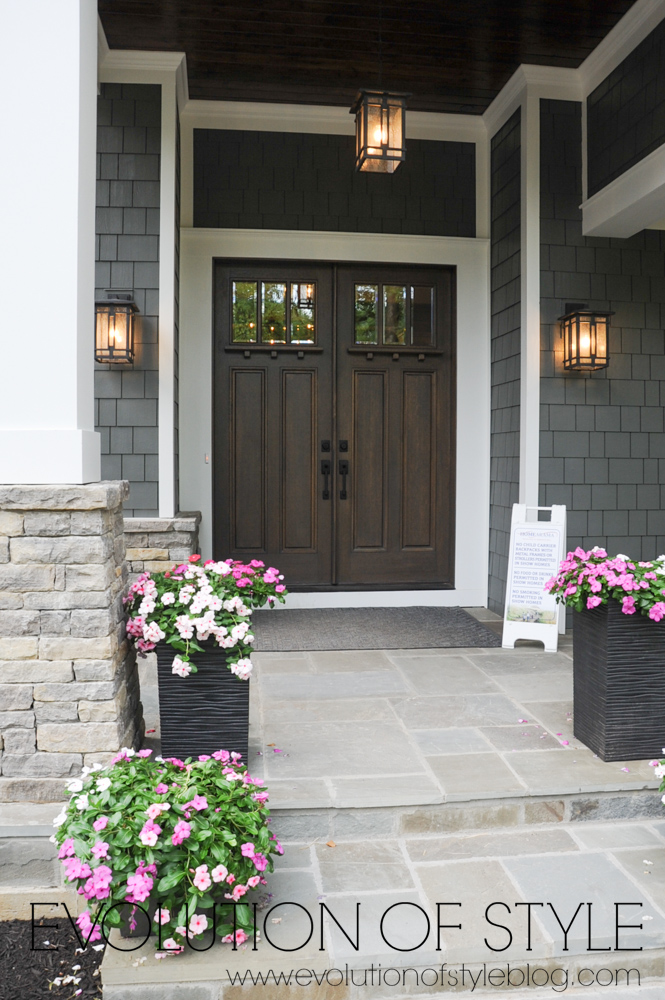 Stained front doors exterior