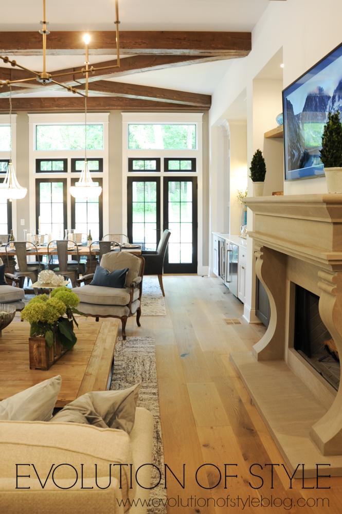 Open concept living area