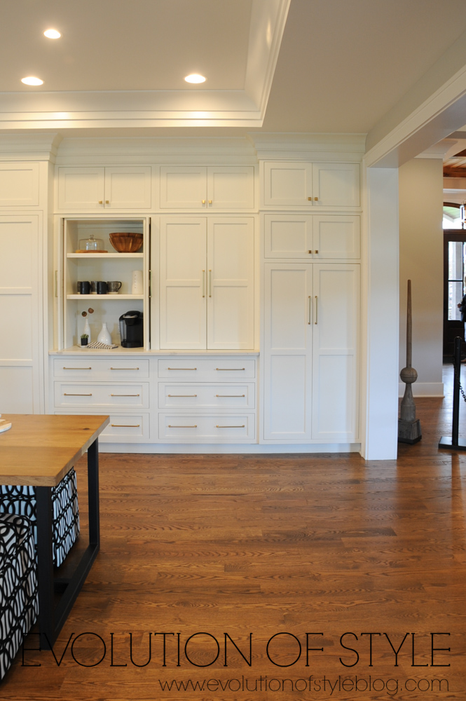 White kitchen with large storage