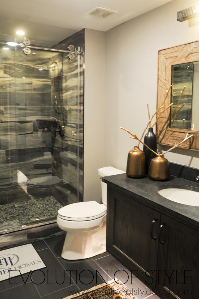 Sleek basement bathroom