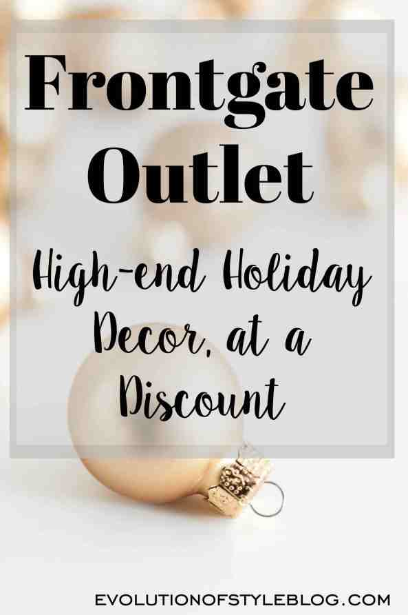 Frontgate Outlet: Holiday Decor at a Discount