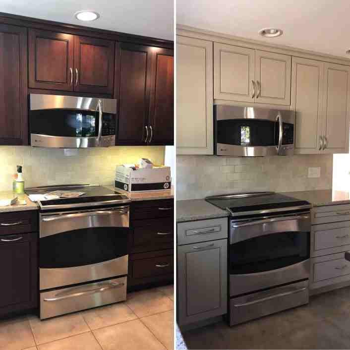 Anew Gray Kitchen Before and After
