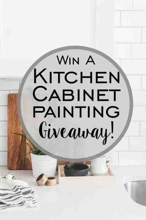 Kitchen Cabinet Painting Giveaway