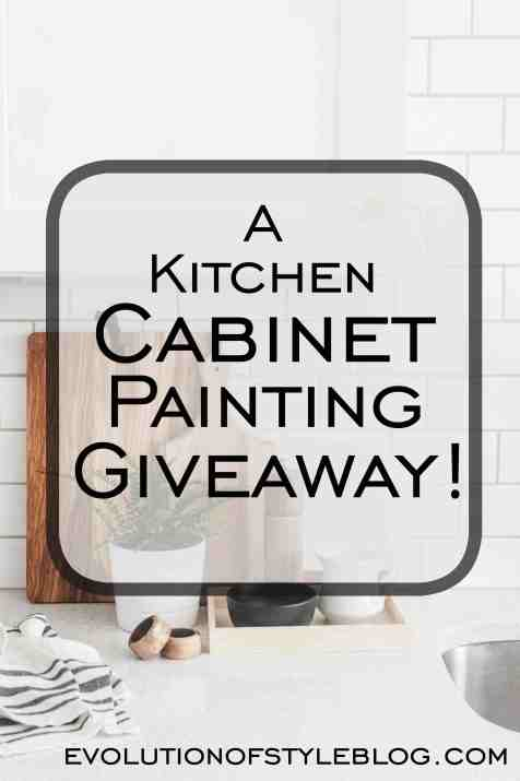 Painted Cabinet Giveaway