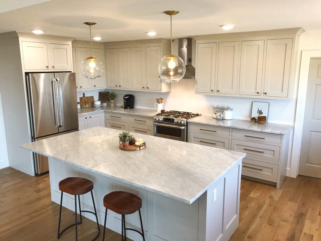 Favorite Non White Kitchen Cabinet Paint Colors   Revere Pewter (Benjamin  Moore)