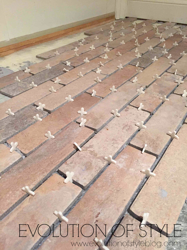 Brick Tile with spacers