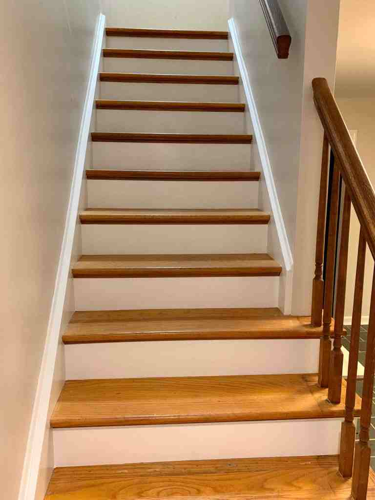 Wood Stairway Makeover