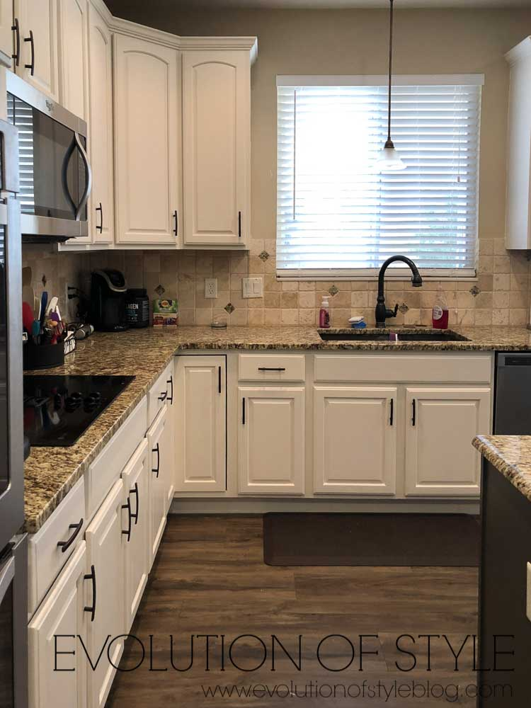 White Dove Painted Kitchen Cabinets