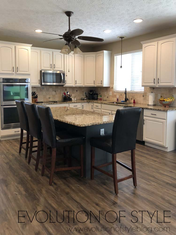 Sherwin Williams Urbane Bronze Kitchen Island