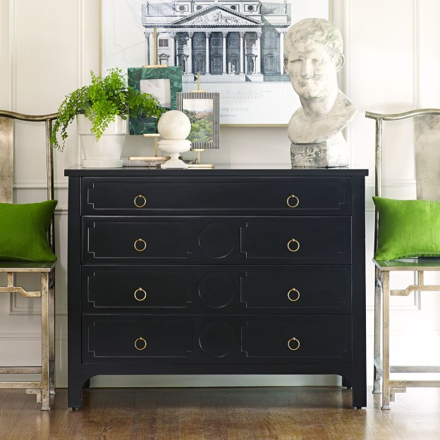 Wisteria Black Gustavian Chest