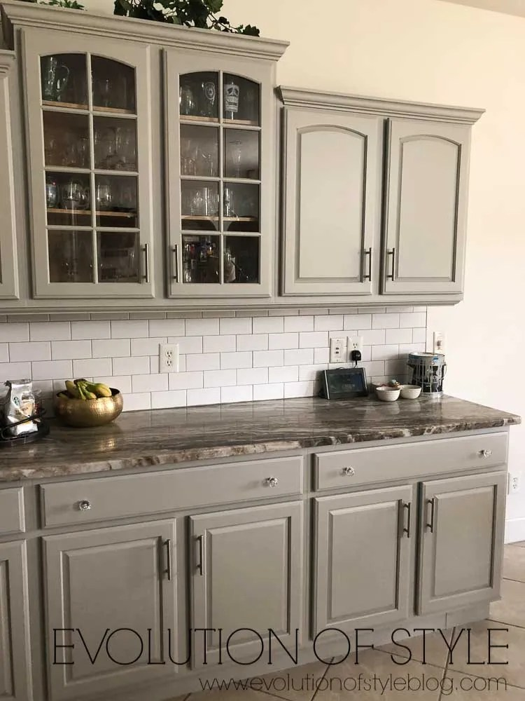 Mindful Gray Painted Kitchen Cabinets