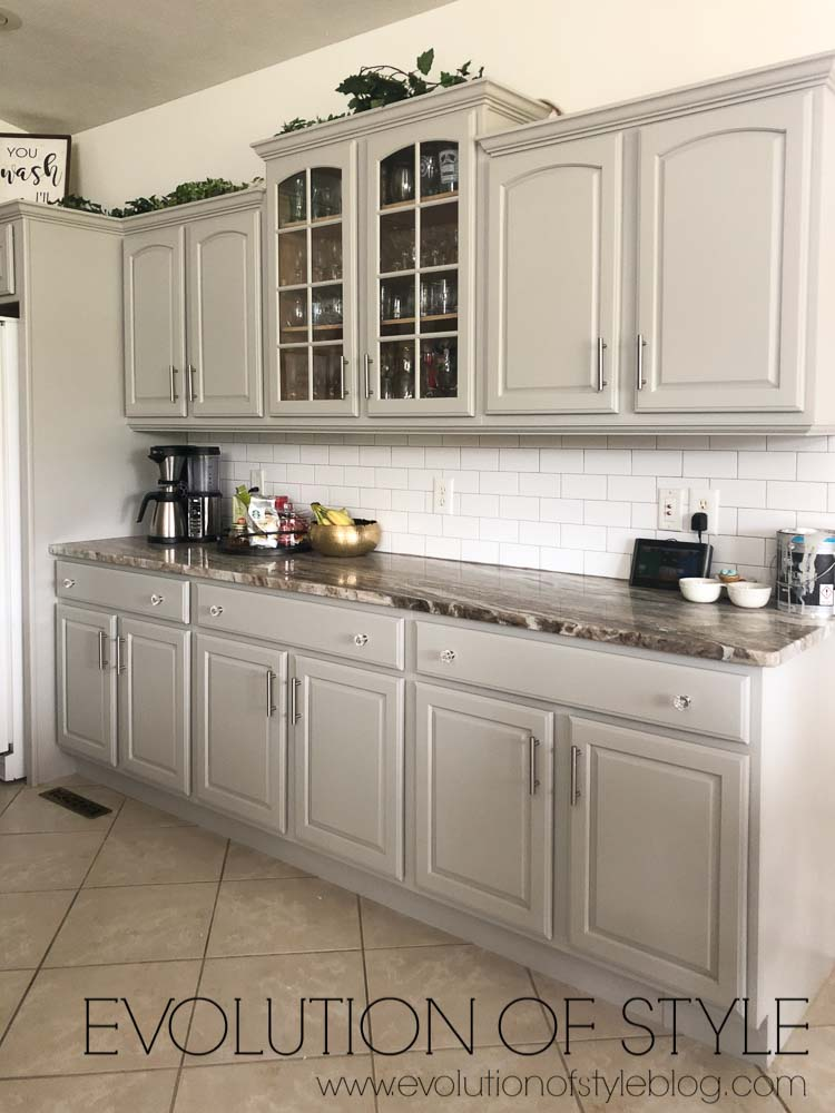 Sherwin Williams Cabinets Painted in Mindful Gray