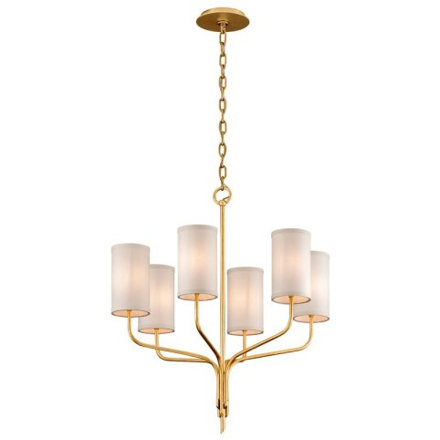 Six Light Shaded Chandelier