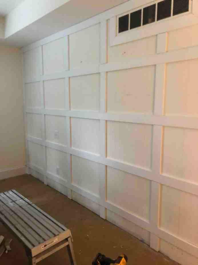 Paneled Master Bedroom Wall