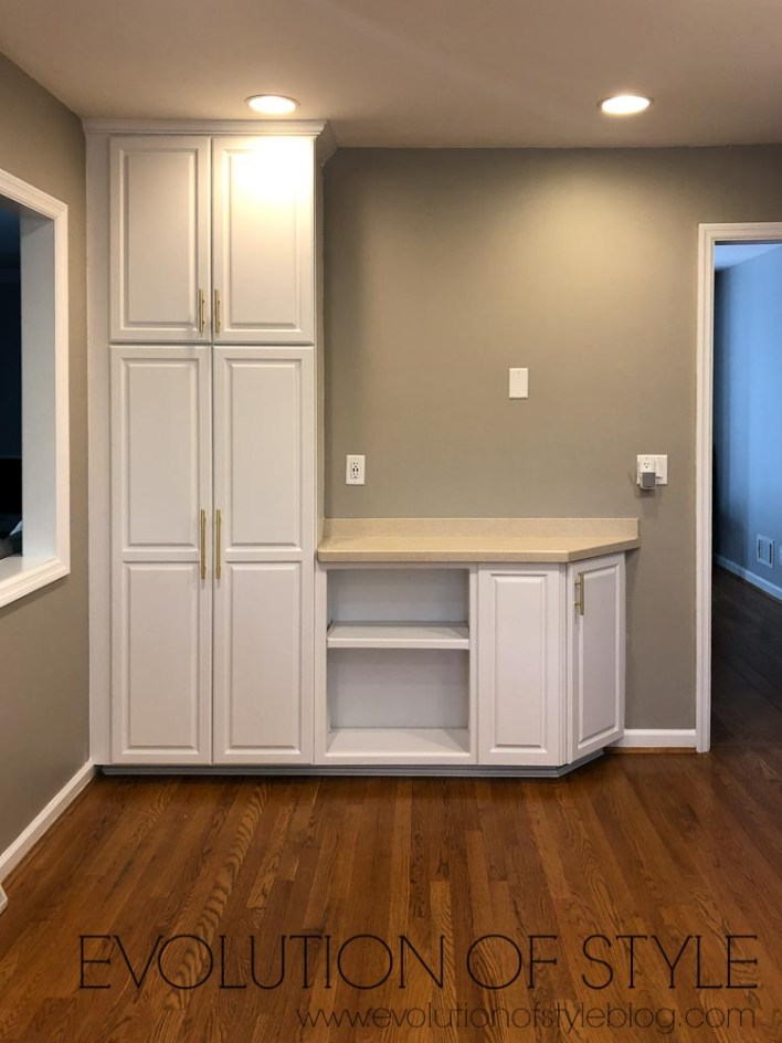Benjamin Moore Decorator's White Painted Cabinets - Before and After