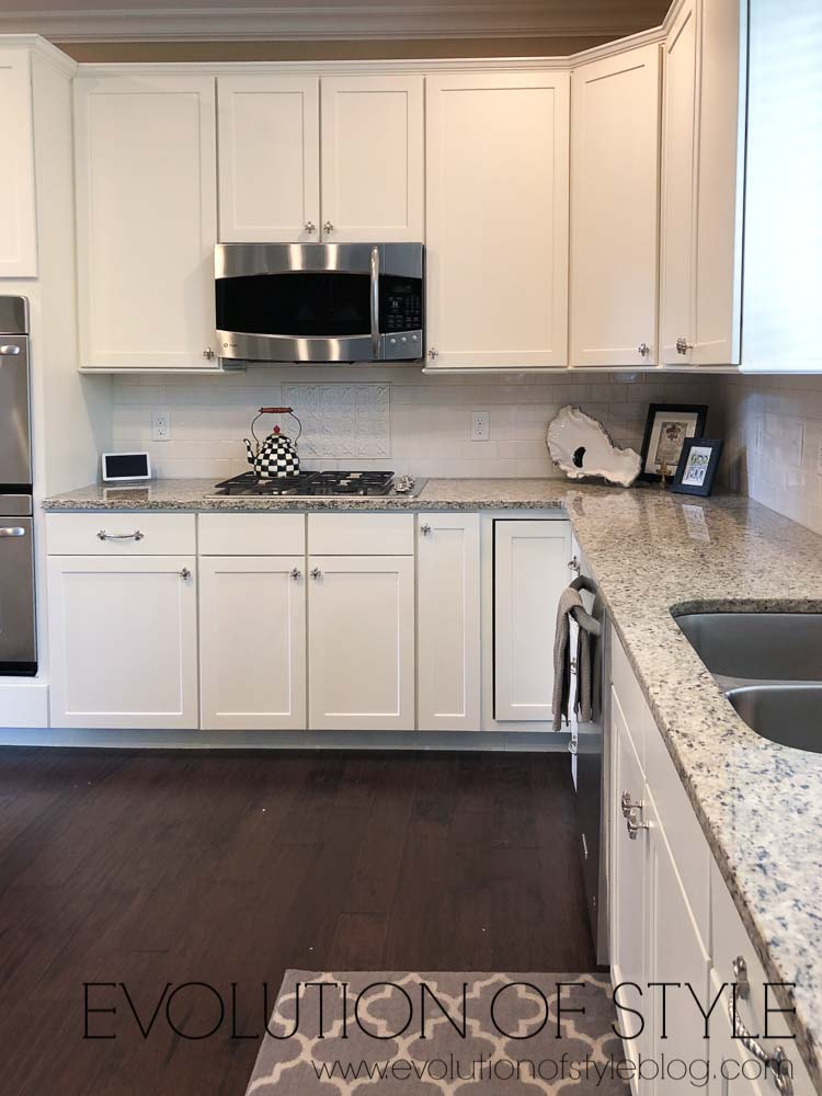 PPG Edelweiss - Painted Kitchen Cabinets