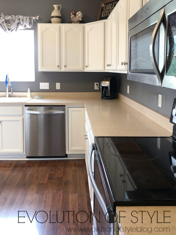 Painted Kitchen Cabinets - Best Warm White Paint Color