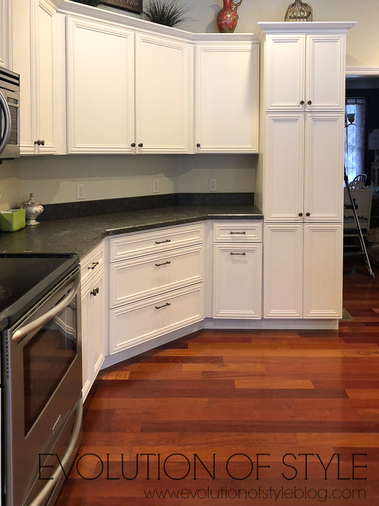 White Dove Painted Cabinets