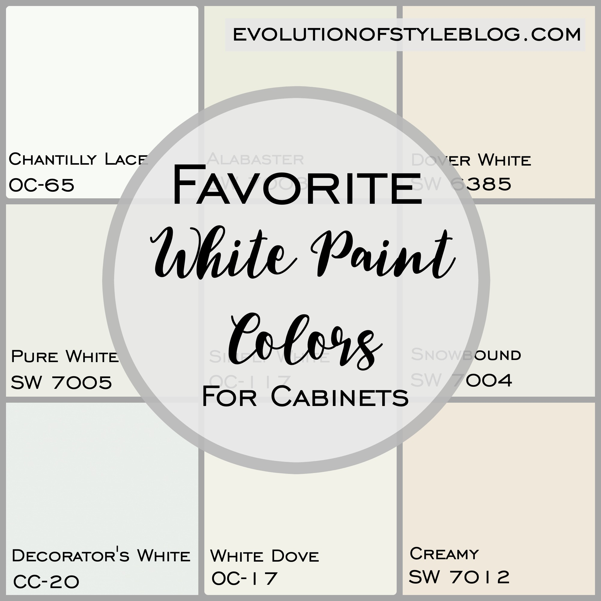 Soft White Paint Color For Kitchen Cabinets Favorite White Kitchen CabiPaint Colors   Evolution of Style