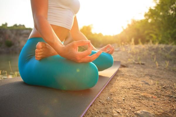 méditation à l'extérieur