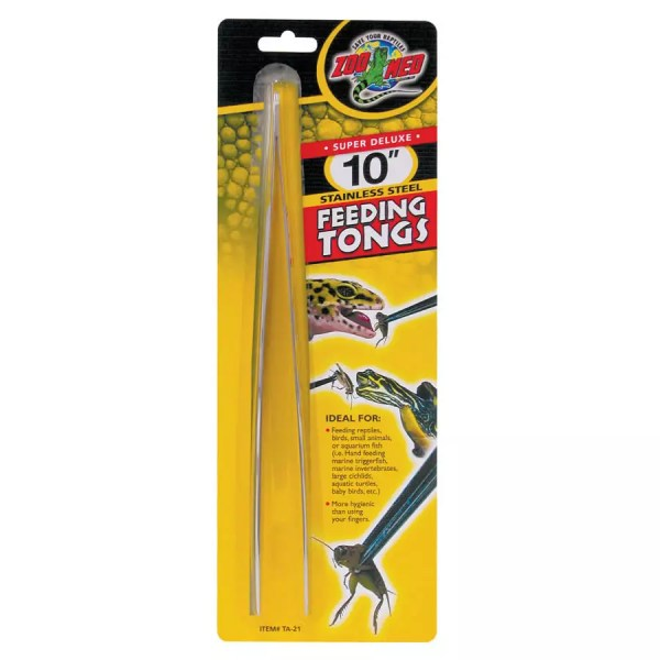 ZooMed 10in Stainless Steeling Feed.Tongs