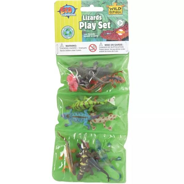 Wild Republic Plastic Toys Playset: Lizards (12)