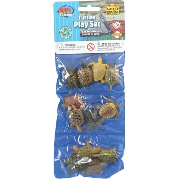 Wild Republic Plastic Toys Playset: Turtles (12)