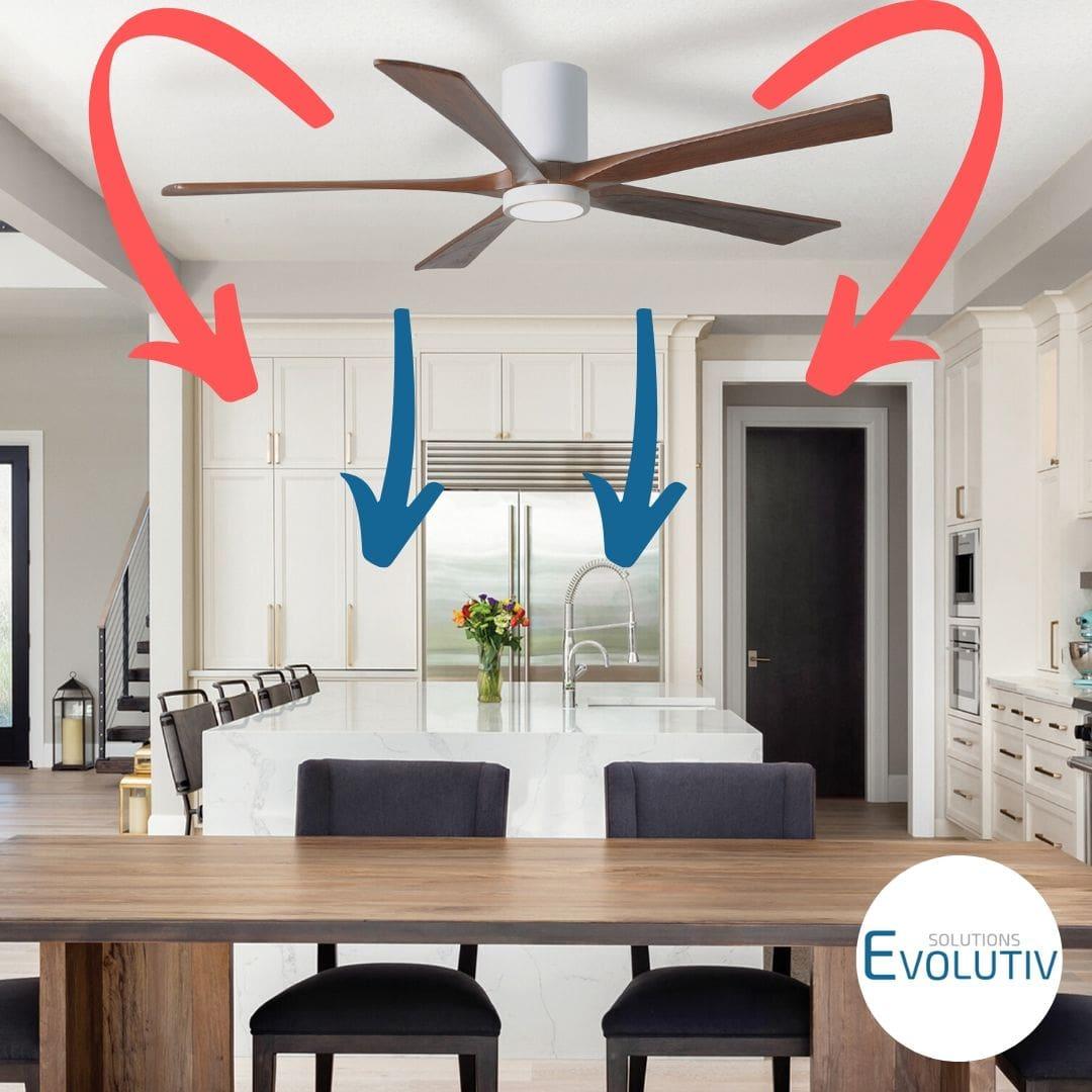 ventilateur plafond reversible guide