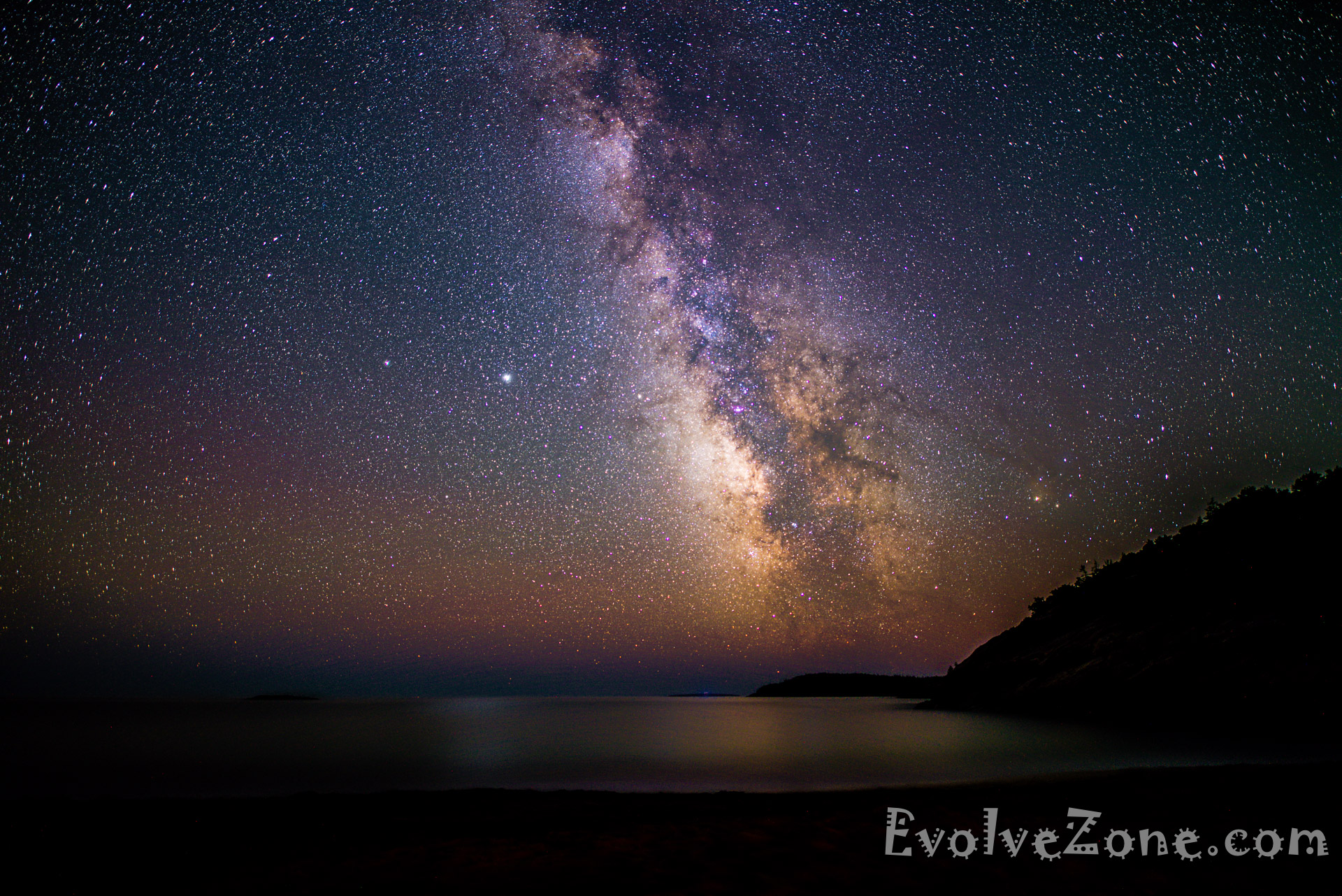 Milkyway - Sand Beach - Acadia National Park (20mm Horiz)