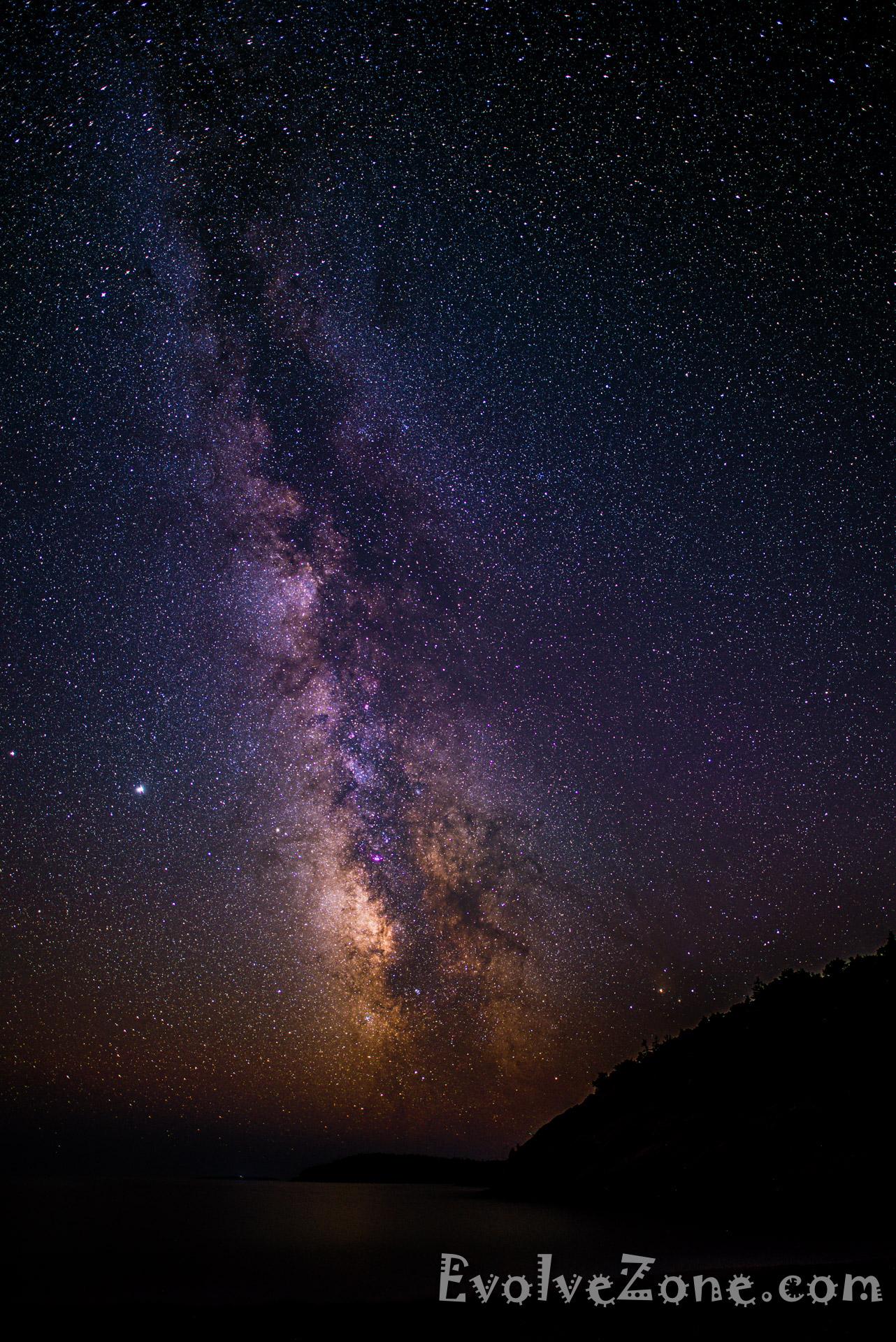Milkyway - Sand Beach - Acadia National Park (20mm Vert)