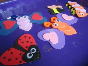 from the Valentine's Day Craft: Love Bugs post