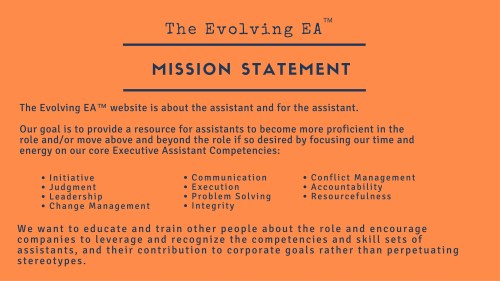 Evolving EA Mission