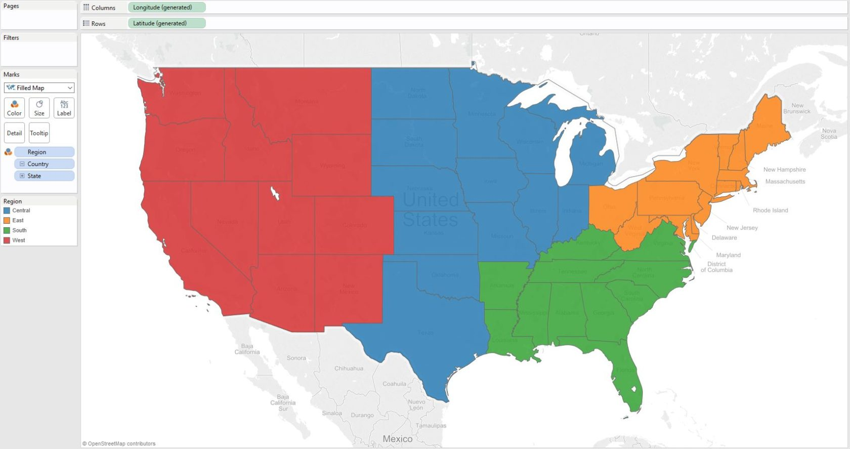 Tableau 201 How To Make A Filled Map