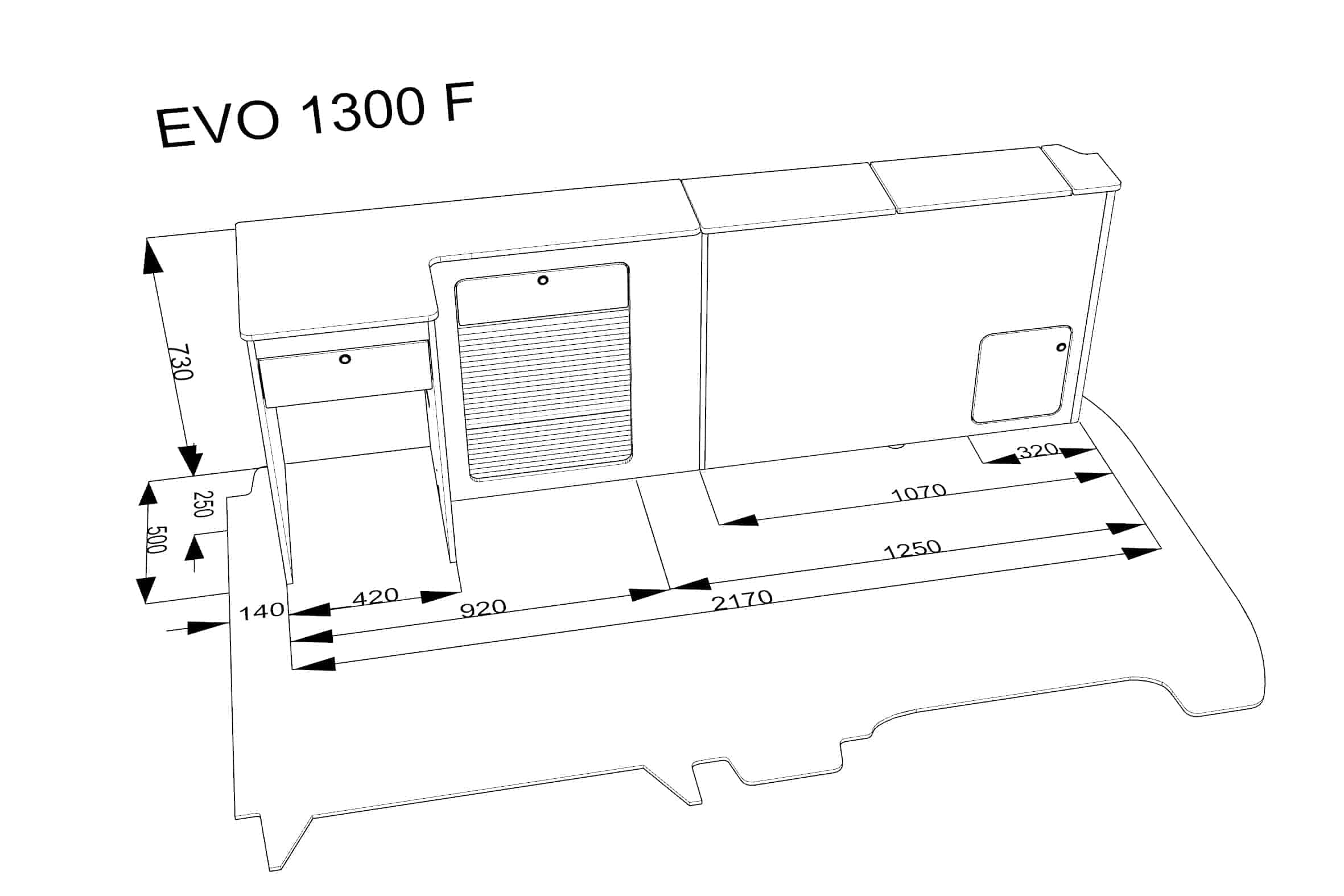 Furniture Kit F Low Rib Seat Vw T5 Short Wheel