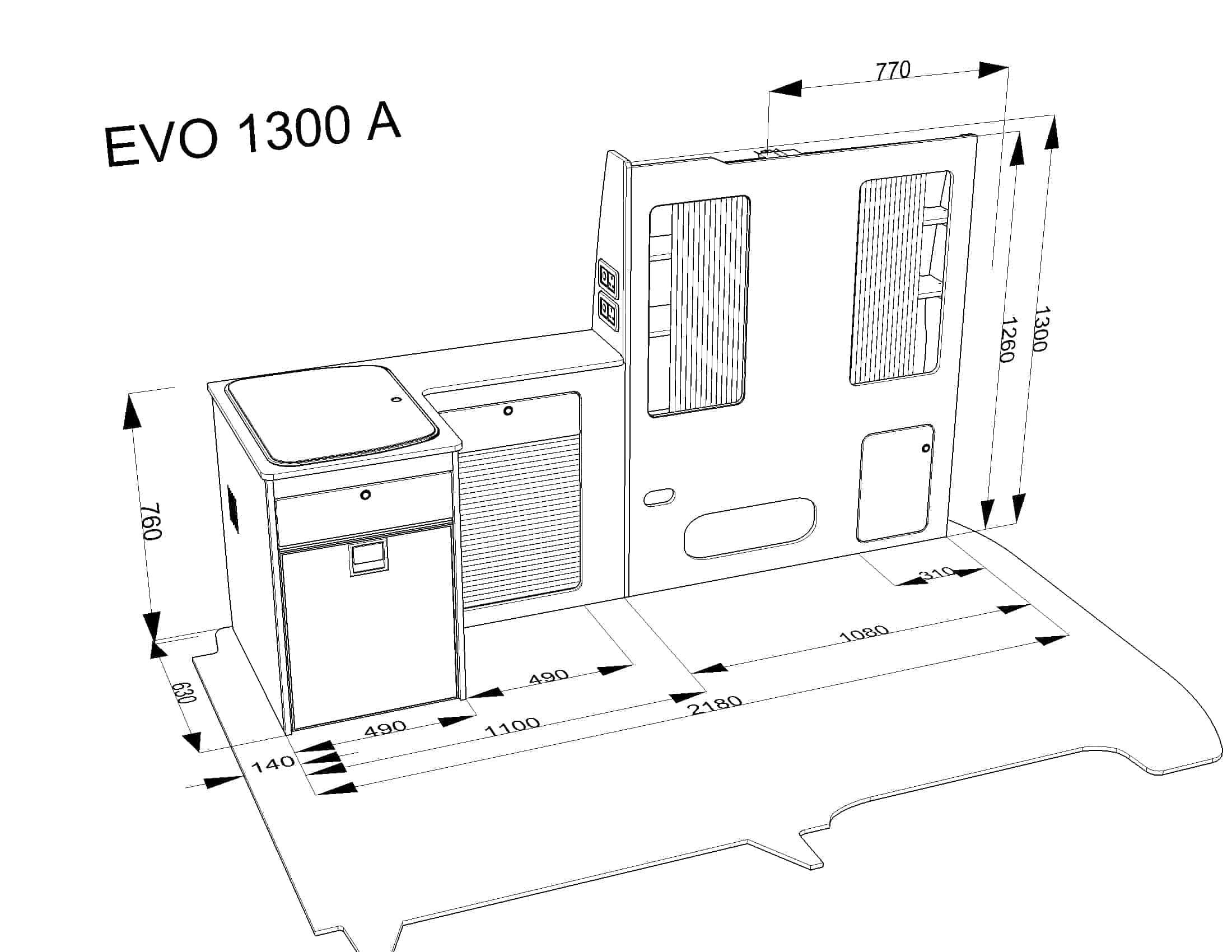 Furniture Kit A Rib Seat Vw T5 Short Wheel Base