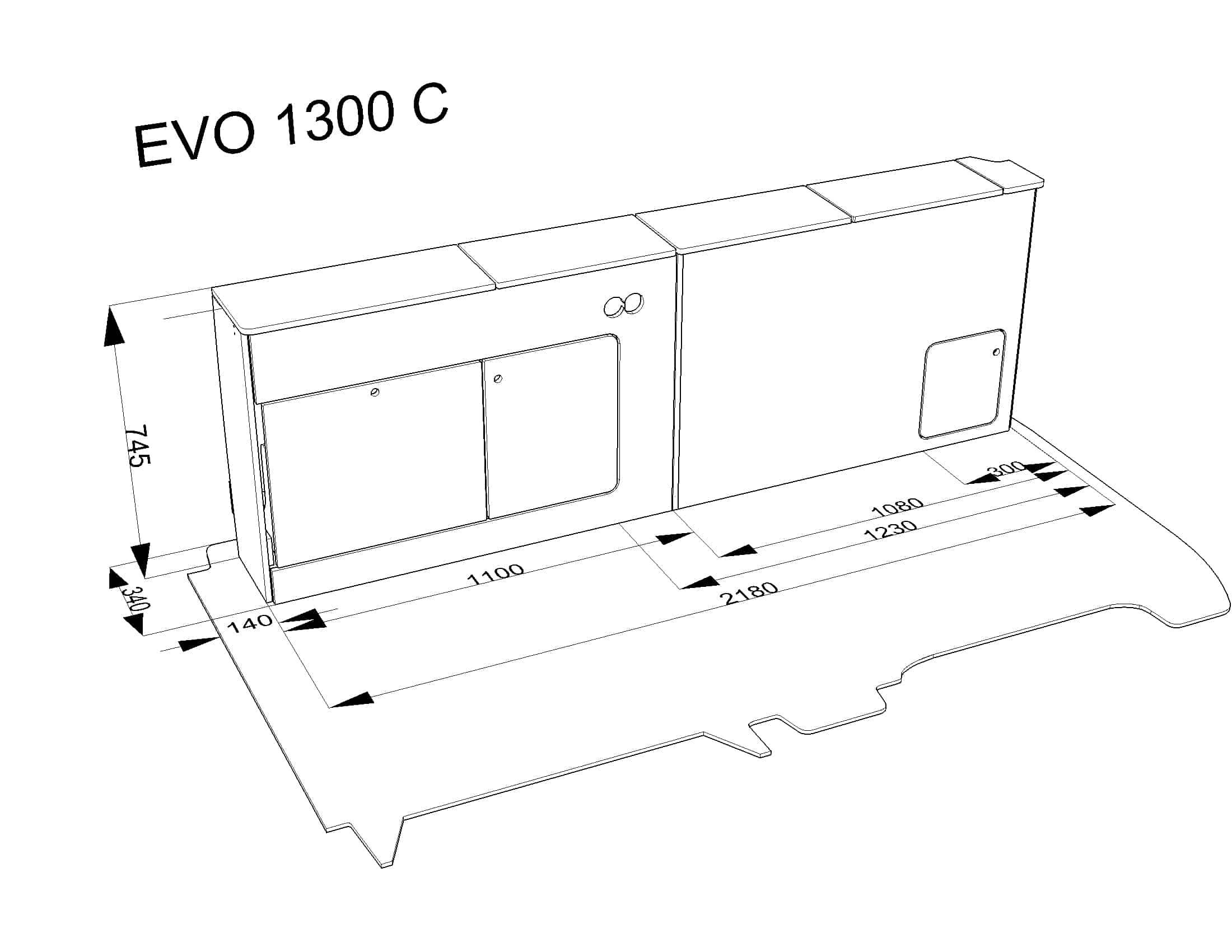 Furniture Kit C Slim Front Low Back Rib Seat Vw