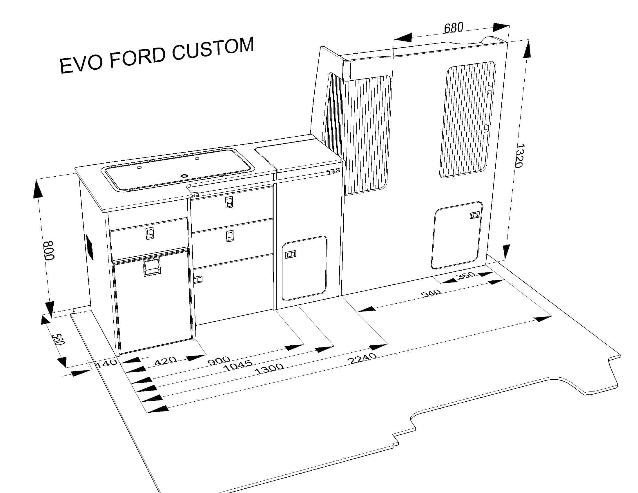 Evo 2 5 Ford Transit Custom Short Wheel Base