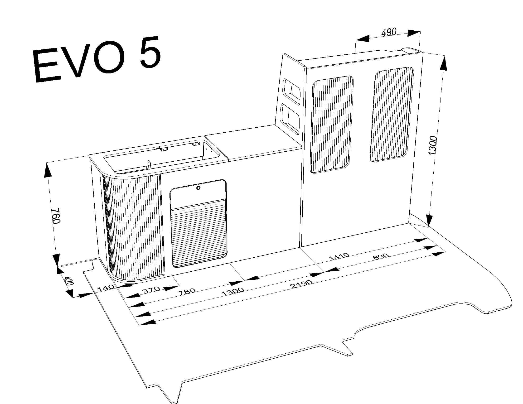 Evo 5 4 Swb Curved Kit T4 T5 T6
