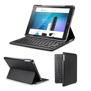 Clavier étui iPad Air 2 TeckNet Étui de protection pour iPad Air 2 Etui avec Clavier sans fil Bluetooth en AZERTY français
