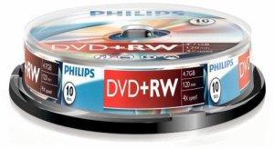Philips Spindle 10 DVD+RW 4.7 Go 4x 908210002436