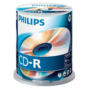 Philips Spindle 100 CD-R 700 Mo 80 mins 52x 908210002426