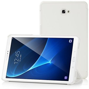 Samsung Galaxy Tab A 10.1 Etui Housse – IVSO Slim Smart Cover Housse de Protection pour Samsung Galaxy Tab A 10.1 (2016) SM-T580N / T585N Tablette, Blanc