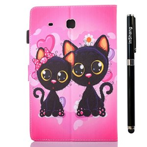 inShang T560 Housse Coque Etui Smart Cover Pour Samsung Galaxy TAB E 9.6 Inch T 560 coque en PU cuir, Coque Avec Support Fonction+ Qualite inShang Logo Pens Haute Stylet capacitif