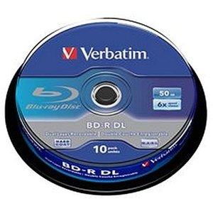 Blu raybd-r dl50gb6x spin10Lot de médias vierges et optique mémoire