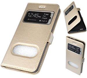AccessDiscount Live Mobile Coque Pochette Protection Avant + fixation arriere en Gel Silicone avec fenetre info pour le Lenovo k5