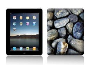 Luxburg® Design skin de protection sticker film autocollant pour Apple iPad 4, 3 & 2, motif: Pierres