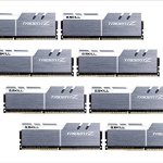 G.Skill Trident Z 128 Go (8x 16 Go) DDR4 3600 MHz CL17 – Kit Quad Channel 8 barrettes de RAM DDR4 PC4-28800 – F4-3600C17Q2-128GTZSW Blanc et argent (garantie 10 ans par G.Skill) ( Catégorie : Mémoire PC )