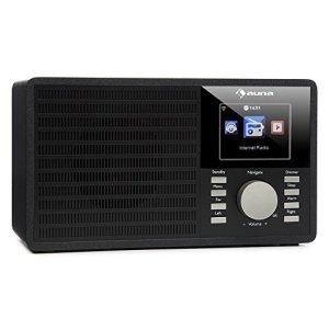auna IR-160 Radio internet • Des milliers de stations radio Internet via le réseau WiFi • Lecteur média : port USB, entrée AUX et diffusion par le réseau via le standard UPnP ou DLNA • Ecran TFT couleur 2.8″ et résolution 320 x 240 pixels • Noir